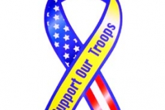 Support Our Troops Ribbon Car Magnet